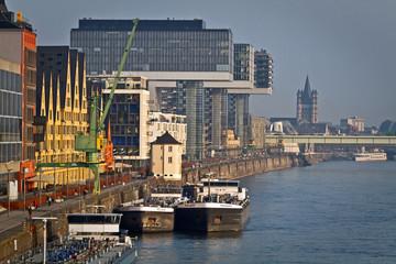 Fototapete - Rheinauhafen, Kranhäuser in Köln