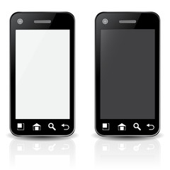 PHONE BLACK WHITE
