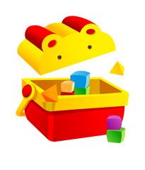 Vector icon block toy box