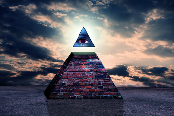 New world order pyramid of illuminati