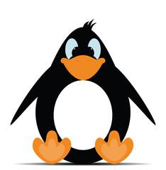 Penguin toy in vector