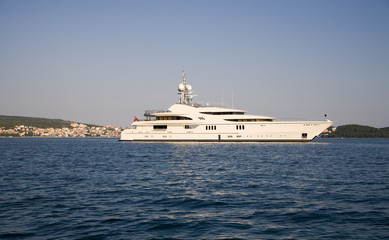 yacht on the mediterranean sea - Croatia