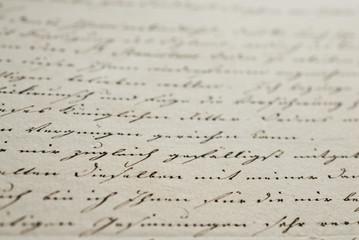 Nostalgischer Liebesbrief