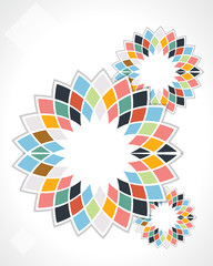 abstract flower background cube design vector illustration eps