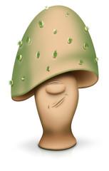 Mürrischer Pilzkopf