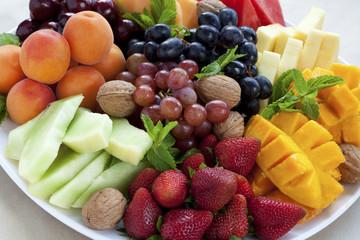 Mixed fruit platter
