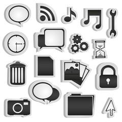 set of silhouettes icon