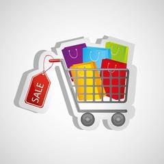 shopping cart sticker kits