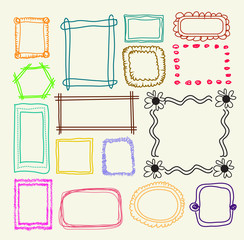 Hand drawn  photo frames