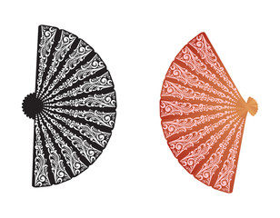 black and brown isolated fans