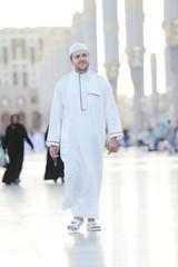 Muslim walking