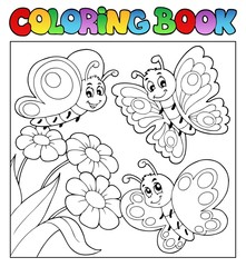 Coloring book with butterflies 3