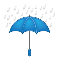Weather symbols vector set,umbrella with rain
