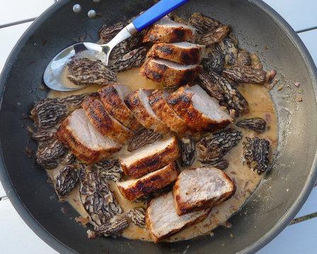 Pork fillet with Morels