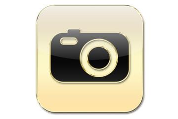 Botón oro foto