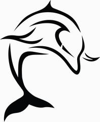 Tribal dolphin / vector tattoo