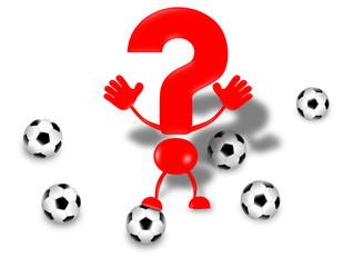 Fußball - Fragezeichen