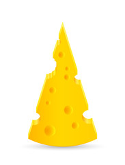 illustration of a piece of cheese