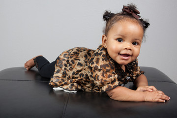 African American 6 month old infant baby