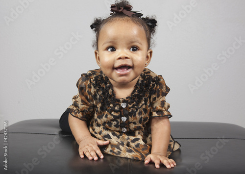 African American 6 Month Old Infant Baby Stock Photo And Royalty