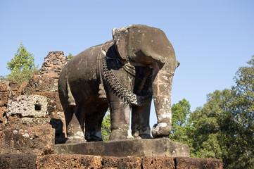 Stone Elephant, East Mebon Temple, Cambodia