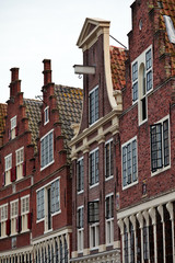 Monumental canal houses in The Netherlands