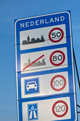 Welcome roadsign when entering Holland