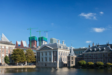 View at the Dutch parliament buildings