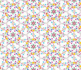 seamless pattern background with bright stilyzed flowers