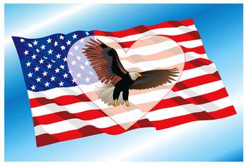 background with USA national symbols