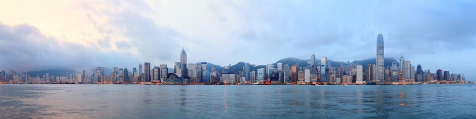 Hong Kong morning panorama