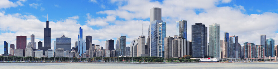 Photo sur Aluminium Chicago Chicago city urban skyline panorama