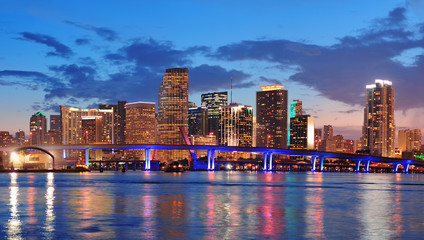 Wall Mural - Miami night scene