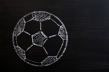 Chalk drawing of Football