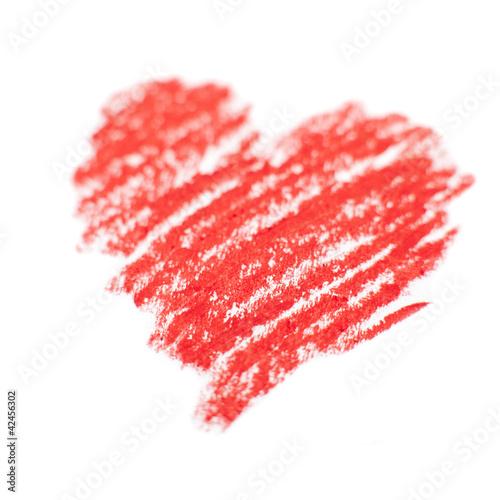 coeur rouge dessin a la craie photo libre de droits sur. Black Bedroom Furniture Sets. Home Design Ideas