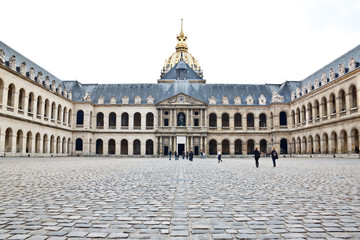front facade of Hotel Les Invalides, Paris, France