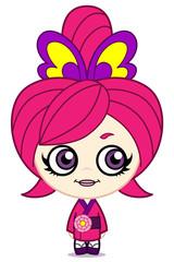 ピンク着物ガール