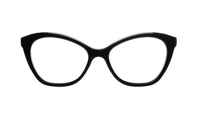 Cat's eye retro glasses with clipping path