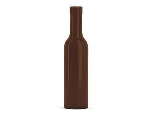 Halbflasche Wein braun