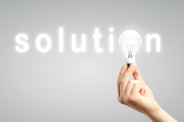 light bulb, concept solution