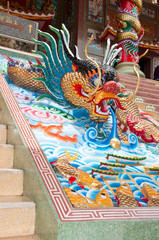 dragon decorated on stair
