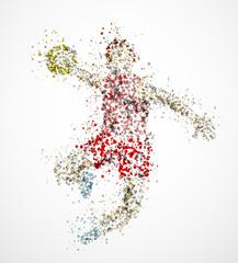 Abstract handball player