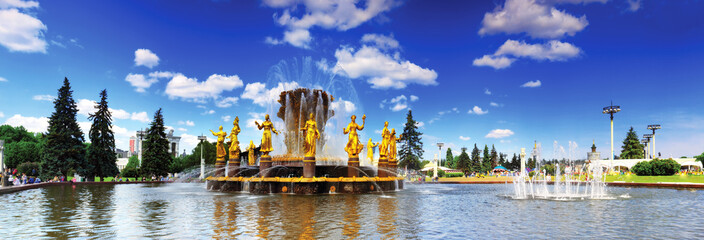 Fountain of Friendship of Peoples. Moscow,ENEA.