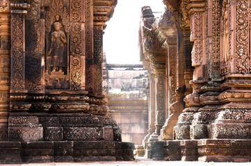 Tuinposter Temple Temple Banteay Srei