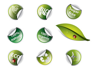Bio and eco stickers