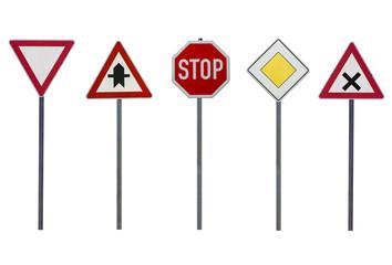 Schilder Thema Vorfahrt