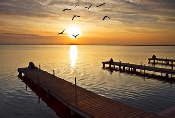 Photo sur Plexiglas Jetee Amor en el lago