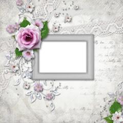 Elegance silver frame for  photo