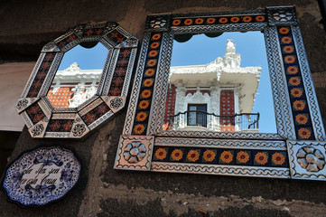 Mirrors in Puebla city