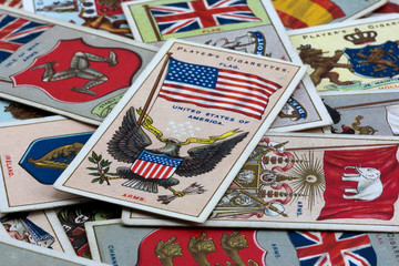 CIRCA 1905 National Flags Cigarette card